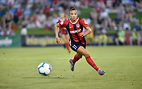 BOYDS, MD - JULY 20: Washington Spirit forward Mallory Mal Pugh (11) runs to a ball during the National Women's Soccer League (NWSL) game between the Houston Dash and Washington Spirit July 20, 2019 at Maureen Hendricks Field at Maryland SoccerPlex in Boyds, MD. (Photo by Randy Litzinger/Icon Sportswire)
