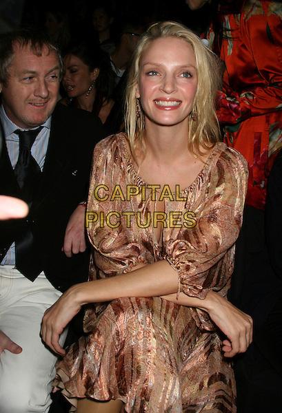 09 february 2006 New York NY - Olympus Fashion Week Fall 2006 - Zac posen frontrow - The Tents, Bryant Park..Uma Thurman