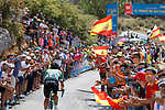 Fabricio Ferrari Barcelo (URU) Caja Rural-Seguros RGA climbs during Stage 15 of the 2017 La Vuelta, running 129.4km from Alcal&aacute; la Real to Sierra Nevada. Alto Hoya de la Mora. Monachil, Spain. 3rd September 2017.<br /> Picture: Unipublic/&copy;photogomezsport | Cyclefile<br /> <br /> <br /> All photos usage must carry mandatory copyright credit (&copy; Cyclefile | Unipublic/&copy;photogomezsport)