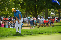 Rafael Cabrera Bello (ESP) chips up tight on 11 during Rd4 of the 2019 BMW Championship, Medinah Golf Club, Chicago, Illinois, USA. 8/18/2019.<br /> Picture Ken Murray / Golffile.ie<br /> <br /> All photo usage must carry mandatory copyright credit (© Golffile | Ken Murray)