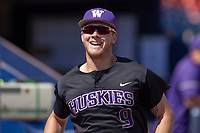 University of Washington Huskies Willie MacIver (9) prior to the game against the Cal State Fullerton Titans at Goodwin Field on June 08, 2018 in Fullerton, California. The University of Washington Huskies defeated the Cal State Fullerton Titans 8-5. (Donn Parris/Four Seam Images)