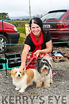 Enjoying the  6th annual Mid Kerry Vintage Rally in Castlemaine were Candy Sheridan with Scruffy and Poppy from Kilrush