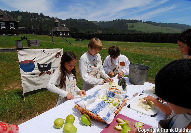 food preparation at Fort Ross State Historic Park
