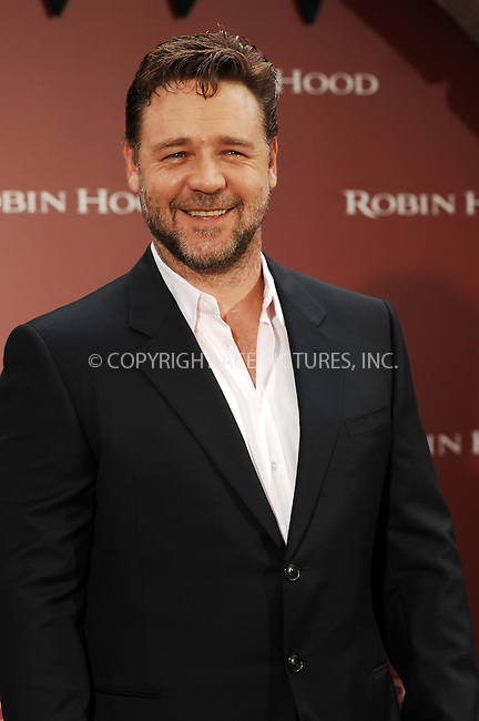 WWW.ACEPIXS.COM . . . . .  ..... . . . . US SALES ONLY . . . . ....Actor Russell Crowe promotes his latest movie 'Robin Hood' on April 28 2010 in Madrid....Please byline: FD/ACE Pictures, Inc.... . . . .  ....Ace Pictures, Inc:  ..Tel: (212) 243-8787..e-mail: info@acepixs.com..web: http://www.acepixs.com