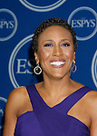 TV personality Robin Roberts poses in the press room at the 2008 ESPY Awards held at NOKIA Theatre L.A. LIVE on July 16, 2008 in Los Angeles, California.