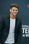 Rayane Bensetti poses at a photocall for the TV series 'Peps' during the 55th Monte Carlo TV Festival on June 13, 2015 in Monte-Carlo, Monaco