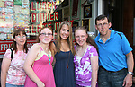One Life To Live's Kristen Alderson poses with the Gresta family -Jean, Jennifer, Caitlin and dad Peter at her annual Fan Gathering on August 16, 2009 at Big Daddy's Diner, New York City, New York. Great time. (Photo by Sue Coflin/Max Photos)