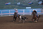 WY: Wyoming, Cody..Cody Night Rodeo..Photo #: yellow891..Photo copyright Lee Foster, 510/549-2202, lee@fostertravel.com, www.fostertravel.com..