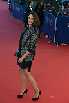 Marie Gillain arrives at the 'Mr Holmes' Premiere red carpet during the 41st Deauville American Film Festival on September 10, 2015 in Deauville, France