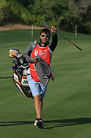 Pablo Larrazabal (ESP) caddy on the 10th during the Pro-Am of the Abu Dhabi HSBC Championship 2020 at the Abu Dhabi Golf Club, Abu Dhabi, United Arab Emirates. 15/01/2020<br /> Picture: Golffile | Thos Caffrey<br /> <br /> <br /> All photo usage must carry mandatory copyright credit (© Golffile | Thos Caffrey)