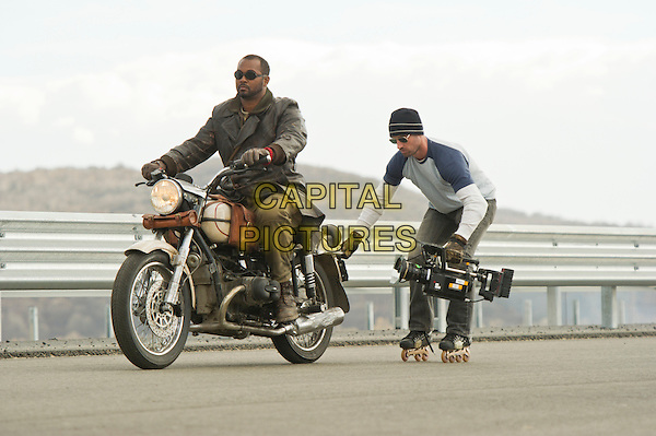 Jermaine Holt and Director Mark Neveldine.on the set of Ghost Rider: Spirit of Vengeance.*Filmstill - Editorial Use Only*.CAP/FB.Supplied by Capital Pictures.