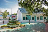Maldives, Fenfushi Island, Fenfushee School.
