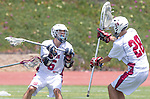 Torrance, CA 05/11/13 - Winston Robinson (St Margarets #6) and Austin Birch (St Margarets #28) in action during the Harvard Westlake vs St Margarets 2013 Los Angeles / Orange County Championship game.  St Margaret defeated Harvard Westlake 15-8.