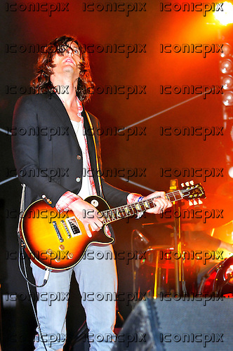 The Strokes - guitarist Nick Valensi - performing live on Day Two at the BBC Radio1 Big Weekend in Carlisle UK - 15 May 2011.  Photo credit: George Chin/IconicPix