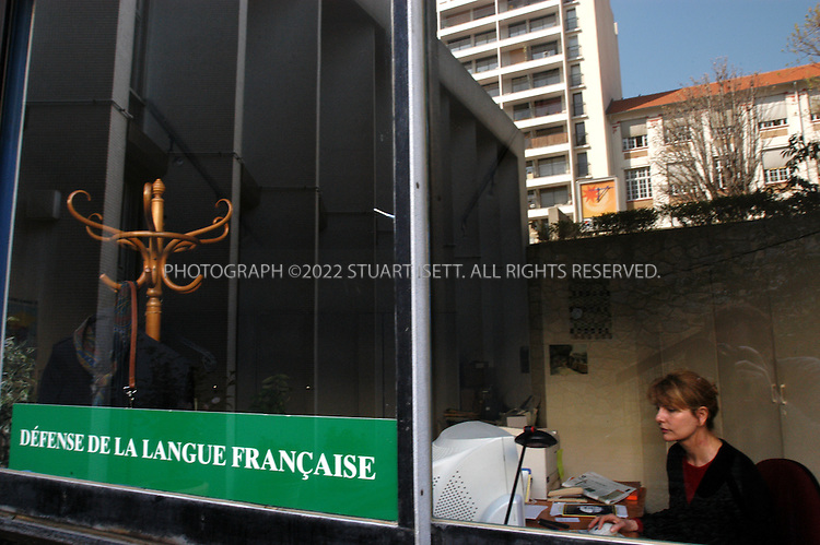 3/25/2005--Paris, France..Patricia Duthion works at the 'Defense de la langue Francaise', a French institute dedicated to protecting the French language from the invasion of English into France. The group also promotes the use of French throughout the world..All photographs ©2005 Stuart Isett.All rights reserved.