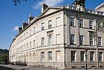Georgian architecture of buildings in Henrietta Street, Bath, Somerset, England built around 1785 by architect Thomas Baldwin.