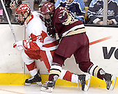 Bryan Ewing, Benn Ferriero - The Boston University Terriers defeated the Boston College Eagles 2-1 in overtime in the March 18, 2006 Hockey East Final at the TD Banknorth Garden in Boston, MA.