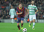11.12.2013 Barcelona, Spain. UEFA Champions League, Group H Matchday 6. Picture show Sergi Roberto  in action during game between FC Barcelona Against Celtic at Camp Nou