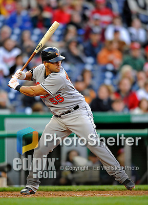 29 March 2008: Baltimore Orioles' catcher Ramon Hernandez in action during an exhibition game against the Washington Nationals at Nationals Park, in Washington, DC. The matchup was the first professional baseball game played in the new Nationals Park, prior to the upcoming official opening day inaugural game. The Nationals defeated the Orioles 3-0...Mandatory Photo Credit: Ed Wolfstein Photo