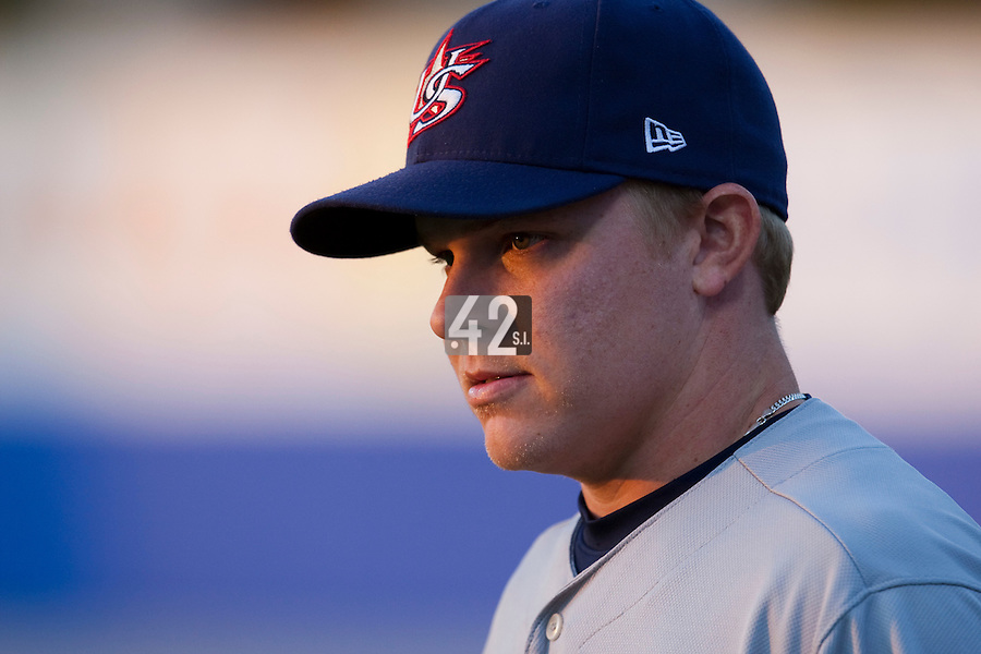25 September 2009: Kasey Kiker of Team USA is seen prior to the 2009 Baseball World Cup final round match won 8-2 by Team USA over Netherlands, in Nettuno, Italy.