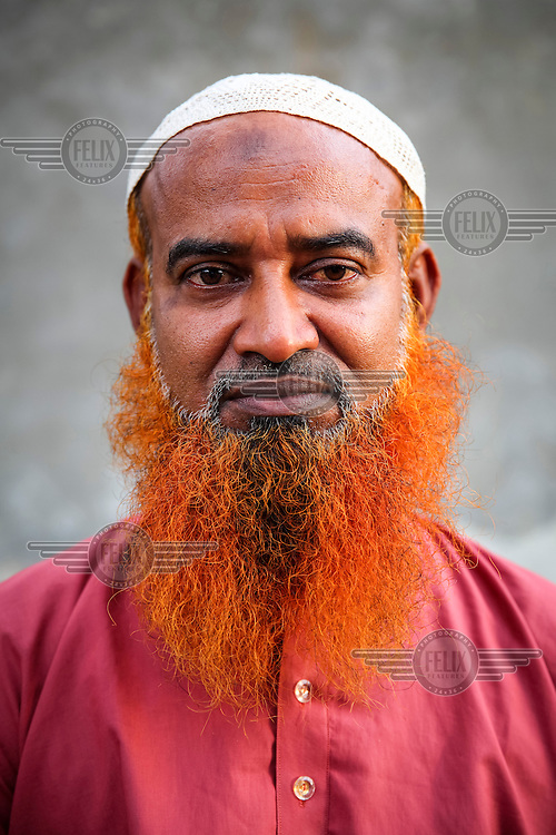 Hajrat Ali.<br /> <br /> It is very common in Bangladesh to see older people with dyed orange hair, men with orange beards or orange moustaches and women with orange hair. The dye used is from the flowering Henna plant. The practice comes from the widely held belief that the Prophet Muhammad dyed his beard and hair. It is also common among people returning from Hajj. Some Muslims believe that henna is the only dye they are free to use for colouring their hair.