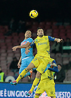 Jorginho Gennaro Sardo  in action during the Italian Serie A soccer match between SSC Napoli and Chievo  at San Paolo stadium in Naples, January 25, 2014