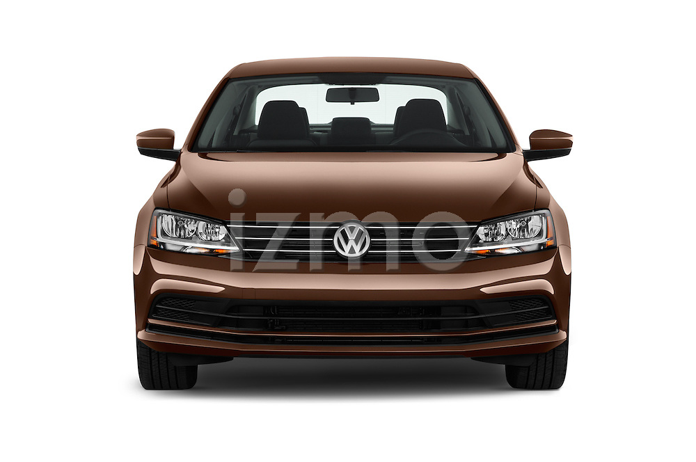Car photography straight front view of a 2017 Volkswagen Jetta S 4 Door Sedan Front View