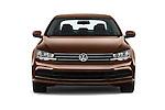 Car photography straight front view of a 2017 Volkswagen Jetta S 4 Door Sedan Front View