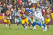 Washington Redskins wide receiver Rashad Ross (19) returns a kick-off late in the fourth quarter against the Dallas Cowboys at FedEx Field in Landover, Maryland on Monday, December 7, 2015. Dallas Cowboys inside linebacker Damien Wilson (57) and kicker Dan Bailey (5) pursue on the play. The Cowboys won the game 19-16.<br /> Credit: Ron Sachs / CNP