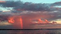 Red Rainbow over Jamestown