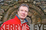 "LECTURE: Killarney Historian Kevin Tarrant at the Romanesque doorway of Aghadoe Church, which was built in 1158 by Amhlaoibh O'Donoghue and which will be included in the ""History of Killarney"" Lecture to be held in Killarney Library on 22nd January.   Copyright Kerry's Eye 2008"