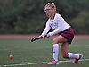 Kylie Tierney #5 of Garden City makes a pass during a Nassau County Conference I varsity field hockey match against Baldwin at Garden City High School on Friday, Sept. 30, 2016. Garden City won by a score of 7-0.
