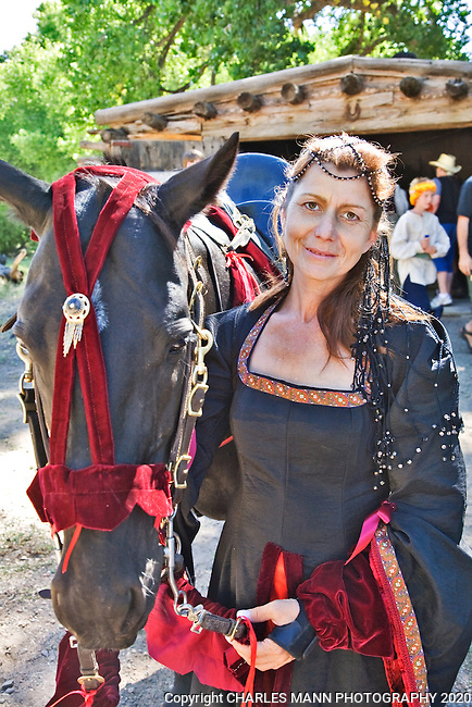The Third Annual Santa Fe Renaissance Fair was held at Rancho de Las Golondrinas near Santa Fe in September 2010 and was a colorful and well attended event. Deville Diamond  brought her rescued racehorse Diamond to the  Renaissance Faire.