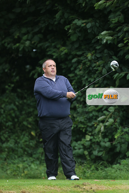 Declan Devine (Strabane) during the Ulster Mixed Foursomes Final, Shandon Park Golf Club, Belfast. 19/08/2016<br /> <br /> Picture Jenny Matthews / Golffile.ie<br /> <br /> All photo usage must carry mandatory copyright credit (&copy; Golffile | Jenny Matthews)