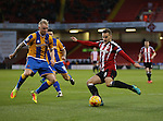 Billy Sharp of Sheffield Utd during the English League One match at the Bramall Lane Stadium, Sheffield. Picture date: November 19th, 2016. Pic Simon Bellis/Sportimage