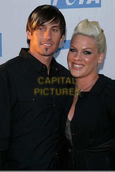 PINK & CAREY HART.PETA's 25th Anniversary Gala and Humanitatian Awards Show held at Paramount Pictures, Hollywood,  CA..September 10th, 2005.half length black bleach blonde hair fiance couple.Photo credit: Jacqui Wong/AdMedia.www.capitalpictures.com.sales@capitalpictures.com.© Capital Pictures.