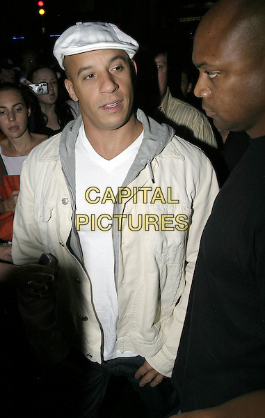 "VIN DIESEL.UK Premiere of ""The Chronicles of Riddick: Pitch Black 2"" After Party, London,.9th August 2004..half length cap hat .Ref: AH.www.capitalpictures.com.sales@capitalpictures.com.©Capital Pictures."