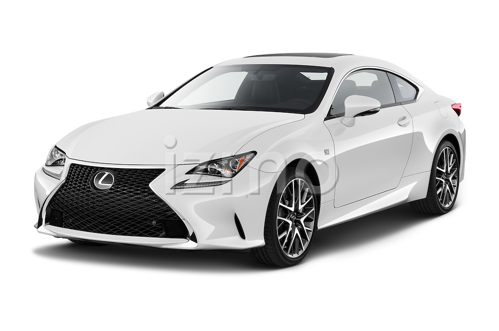 2015 Lexus RC F Sport 2 Door Coupe 2WD Angular Front stock photos of front three quarter view