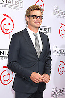 LOS ANGELES, CA - OCTOBER 13: Simon Baker at 'The Mentalist' 100th episode celebration at The Edison on October 13, 2012 in Los Angeles, California. © mpi22/MediaPunch Inc. /NortePhotoAgency