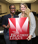 Martine Sainvil and Bonnie Comley with Central Academy of Drama: Professors Visiting Broadway League on September 25, 2017 at the Broadway League in New York City.