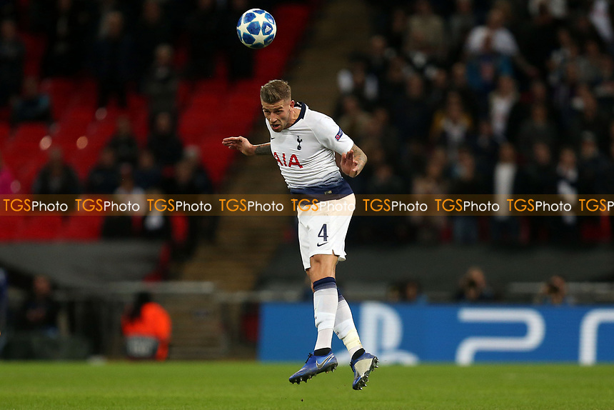 Toby Alderweireld of Tottenham Hotspur during Tottenham Hotspur vs PSV Eindhoven, UEFA Champions League Football at Wembley Stadium on 6th November 2018