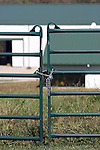 The agriculture barnyard locked fence and gate at the College of the Ozarks, Branson Missouri