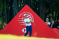 Yechun Yuan (CHN) on the 16th tee during the 3rd round at the WGC HSBC Champions 2018, Sheshan Golf CLub, Shanghai, China. 27/10/2018.<br /> Picture Fran Caffrey / Golffile.ie<br /> <br /> All photo usage must carry mandatory copyright credit (&copy; Golffile | Fran Caffrey)