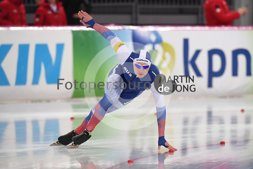SPEED SKATING: HAMAR: Viking Skipet, 03-02-2019, ISU World Cup Speed Skating, Pavel Kuliznikov (RUS), ©photo Martin de Jong