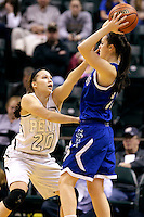 Penn guard Sara Doi (20) guards Columbus North guard Paige Littrell (23) during the IHSAA Class 4A Girls Basketball State Championship Game on Saturday, Feb. 27, 2016, at Bankers Life Fieldhouse in Indianapolis.