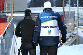 16th March 2019, Ostersund, Sweden; IBU World Championships Biathlon, day 8, mens relay; An athletes goes to the anti doping control with a Chaperon
