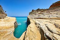 Canal D'amour in Sidari at Corfu, Greece