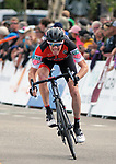 August 11, 2017 - Breckenridge, Colorado, U.S. -  BMC's Brent Bookwalter, sprints for the line during the second stage of the inaugural Colorado Classic cycling race, Breckenridge, Colorado.
