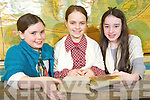 Preparing for the 150th anniversary celebrations of Lissivigeen National School, KIllarney on Thursday were Aoife Sheehan, Liadh O'Sullivan and Emma Quirke, 6th Class.......................