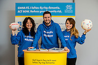 Friday 10 February 2017<br /> Pictured: Promotins staff at the event <br /> Re:Welsh Government Dementia Risk Prevention Roadshow at the BT building, Swansea, Wales, UK